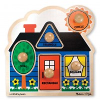 Melissa and Doug First Shapes Peg Puzzle