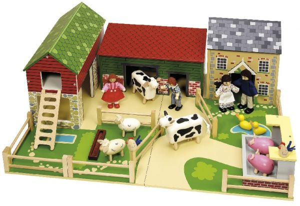 Toy Farm Sets Playing with a toy farm is