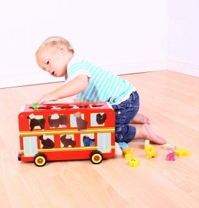 Bigjigs Red Bus Shape Sorter