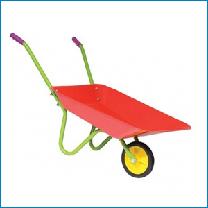 Children's red Wheelbarrow