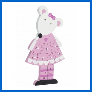 Pink Mouse Number Puzzle