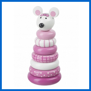 Pink Mouse Stacking Ring