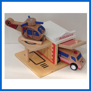 Ambulance Wooden Toy Bundle