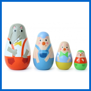 Little Red Riding Hood Nesting Dolls