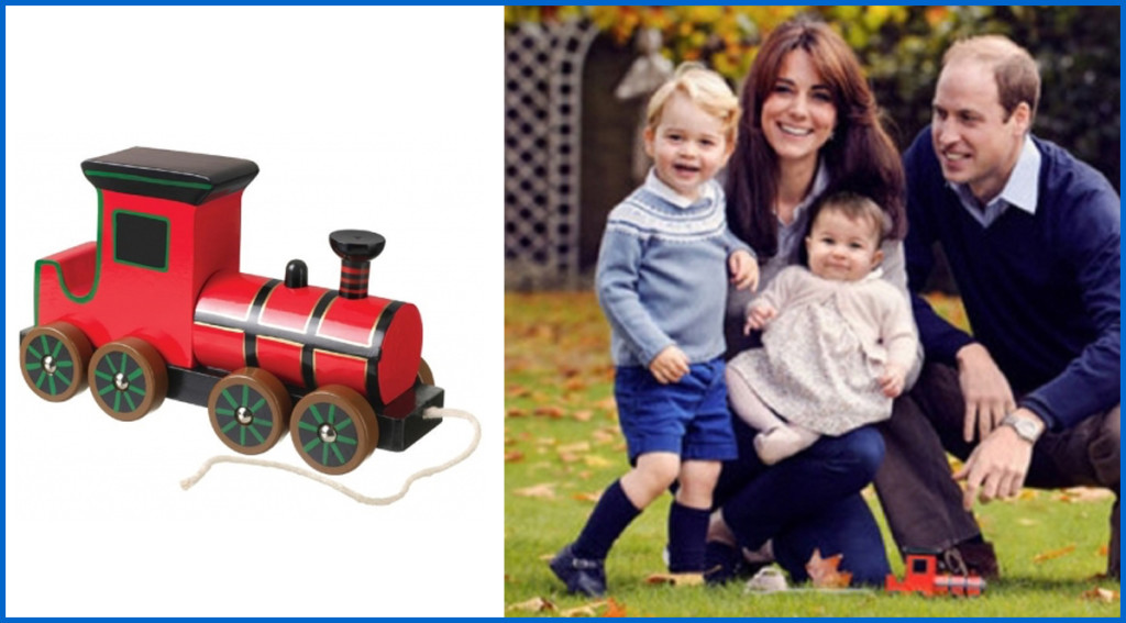 Wooden Steam Train Pull Along Toy