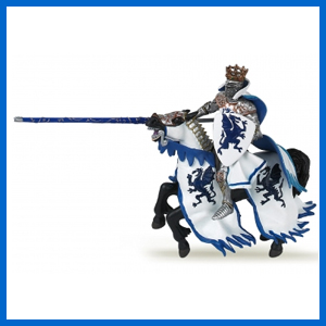 Blue Dragon King with Horse