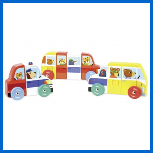 Magnetic Cars Puzzle Set