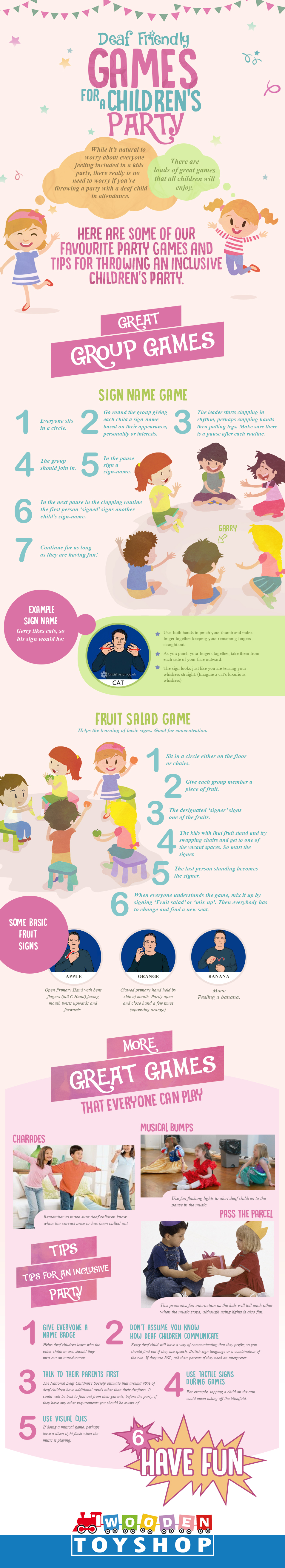 Deaf-friendly games for a childrens party