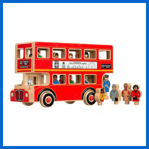 London Bus with Passengers