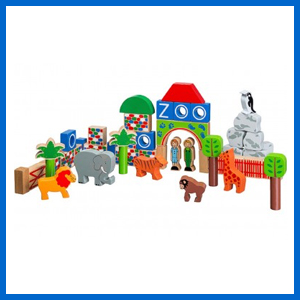 Wooden Zoo Building Blocks