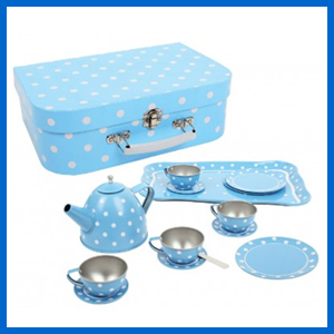 Blue Polka Dot Tin Tea