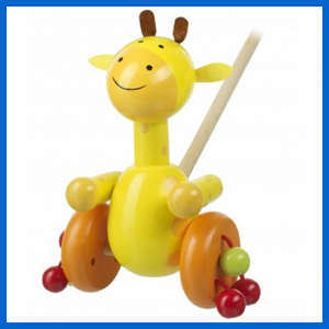 Push Along Wooden Giraffe