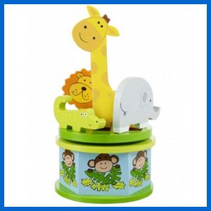 Safari Carousel Music Box