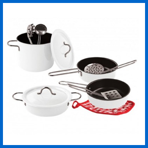 White Enamel Cookware Set