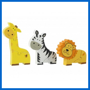 Safari Mini Wooden Puzzle Set
