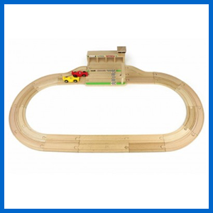 Wooden Race Track Set