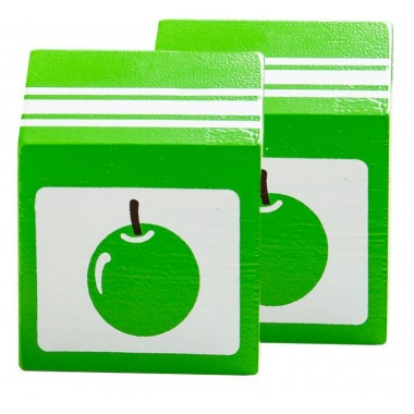 2 x Wooden Apple Juice Cartons