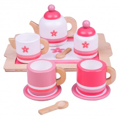 Pink Tea Set and Tray