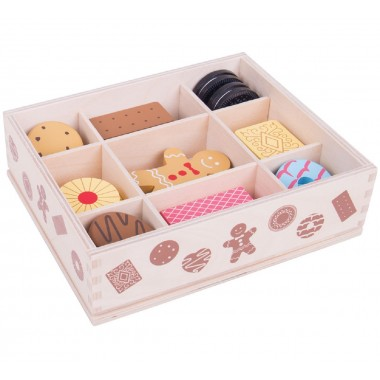 Crate of Wooden Biscuits