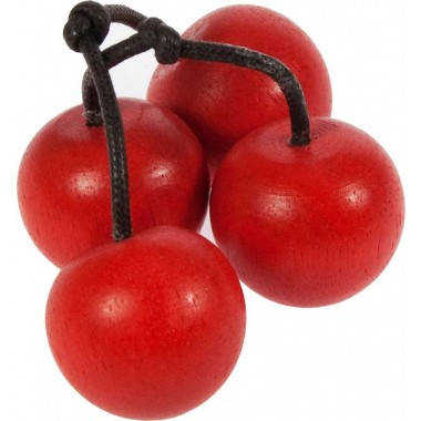 1 x Bunch of 4 Wooden Cherries