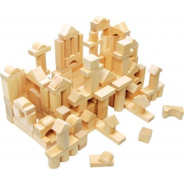 100 Natural Wooden Blocks