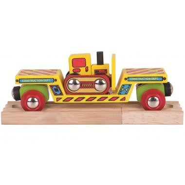 Bulldozer Low Loader Train Wagon 1