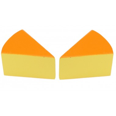 2 x Wooden Cheese Wedges