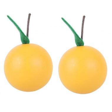 2 x Wooden Oranges