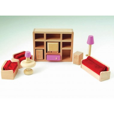 Pink Dolls House Living Room Set