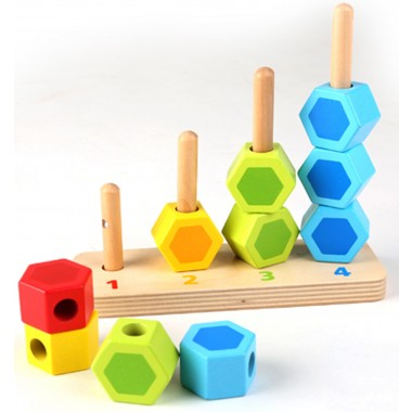 Count and Match Wooden Stacker