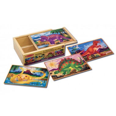 Melissa and Doug Dinosaur Puzzles in a Box