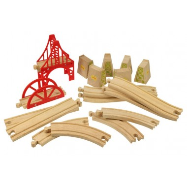 Wooden Train Track - Bridge Expansion Set