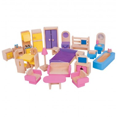 Bigjigs Dolls House Furniture Set