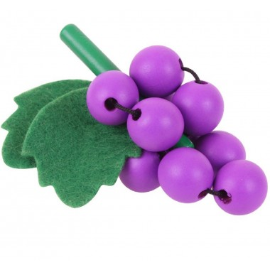 1 x Wooden Bunch of Grapes