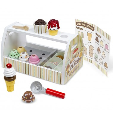 Wooden Ice Cream Counter