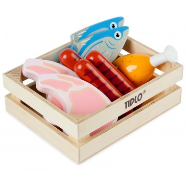 Tidlo Wooden Meat and Fish Set