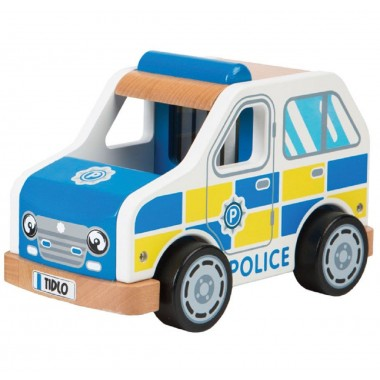 Wooden Police Car Toy