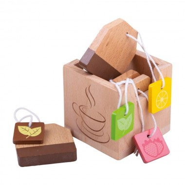 Bigjigs Box of Wooden Tea Bags