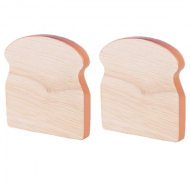 2 x Wooden Pieces of Toast