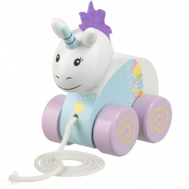 Pull Along Wooden Unicorn