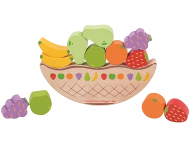Balancing Wooden Fruit Game