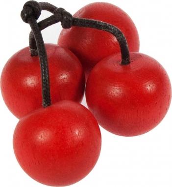 1 x Bunch of 4 Wooden Cherries