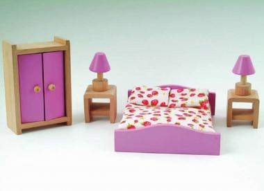 Pink Dolls House Bedroom Set