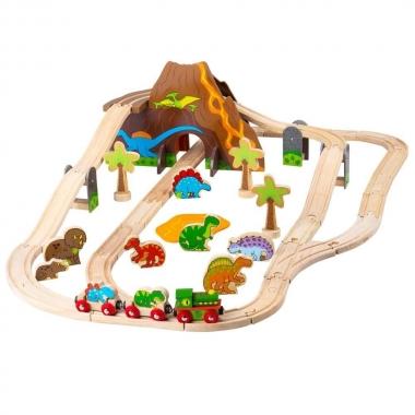 BigJigs Dinosaur World Train Set