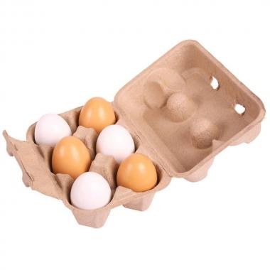 BigJigs Box of 6 Wooden Egg