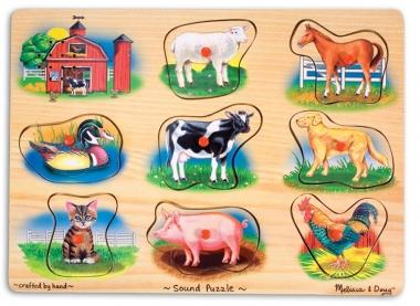 Melissa and Doug Classic Farm Sound Puzzle