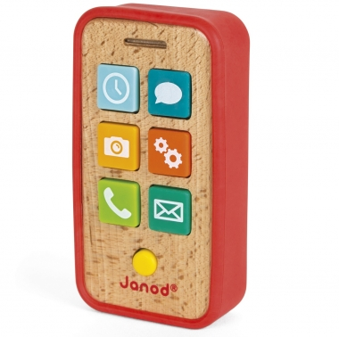 Wooden Mobile Telephone with Sounds