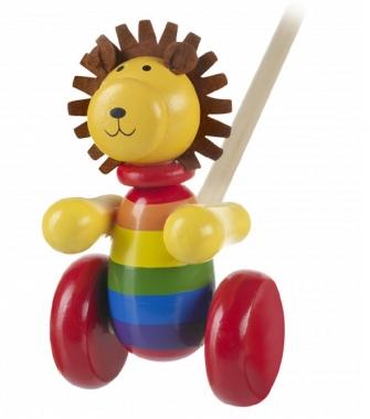 Push Along Wooden Lion
