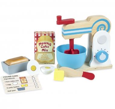 Wooden Food Mixer Set