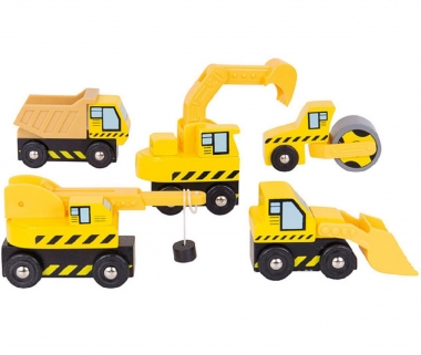 Bigjigs Construction Vehicles Set